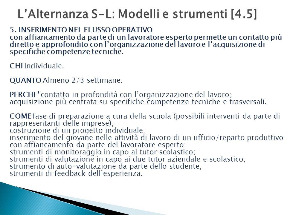 L'Alternanza S-L: Modelli e strumenti [4.5]